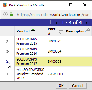 7.2 Pick SOLIDWORKS 2017