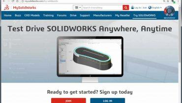 Izmēģiniet SOLIDWORKS bezmaksas - tiešsaistē!