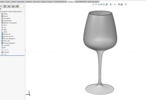 frekvens for å knuse glass solidworks simulation 02